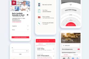 Verschiedene Entwürfe der Apotheke vor Ort-App