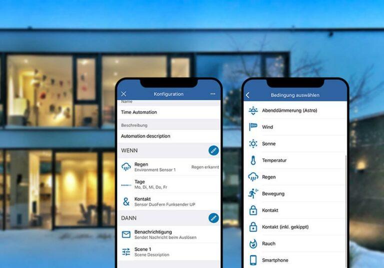Smartphones mit der Rademacher-App